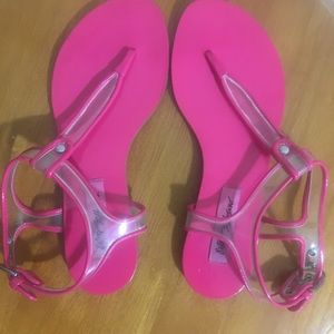 Betsy Johnson Pink Ankle Strap Sandals